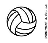 volleyball ball    black vector ... | Shutterstock .eps vector #371013668