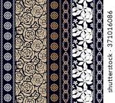 silk seamless wallpaper with... | Shutterstock .eps vector #371016086