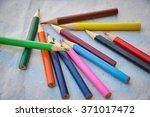 colour pencils | Shutterstock . vector #371017472