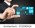business hand illustration. | Shutterstock . vector #371040416