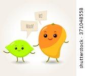 illustration of happy flat... | Shutterstock .eps vector #371048558