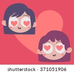 vector illustration of a heart... | Shutterstock .eps vector #371051906