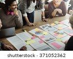 business people meeting... | Shutterstock . vector #371052362