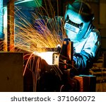 welder industrial automotive... | Shutterstock . vector #371060072