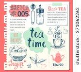 food sketchbook with homemade...   Shutterstock .eps vector #371062262