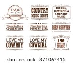 country quotes  strokes editable | Shutterstock .eps vector #371062415