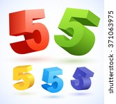 vector 3d colorful numbers....   Shutterstock .eps vector #371063975