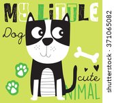 Stock vector cute dog vector illustration 371065082