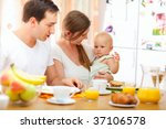 young happy family having... | Shutterstock . vector #37106578