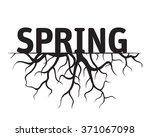 spring black vector illustration   Shutterstock .eps vector #371067098