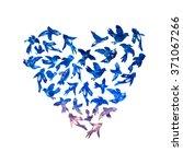 vector watercolor heart from... | Shutterstock .eps vector #371067266