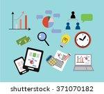 vector flat set icon of... | Shutterstock .eps vector #371070182