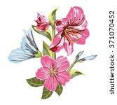 a vector of flower bouquet on... | Shutterstock .eps vector #371070452