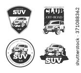 suv car vector emblems  labels... | Shutterstock .eps vector #371088362