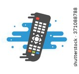 colored tv remote controller ... | Shutterstock .eps vector #371088788