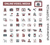 online video  media  education  ... | Shutterstock .eps vector #371099126