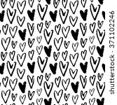 heart seamless pattern. vector... | Shutterstock .eps vector #371102246