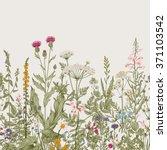 vector seamless floral border.... | Shutterstock .eps vector #371103542