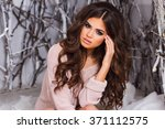 close up  up beauty smiling... | Shutterstock . vector #371112575