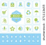 set eco icons for web and mobile   Shutterstock .eps vector #371113655