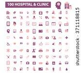 hospital  medicine  icons ... | Shutterstock .eps vector #371118815
