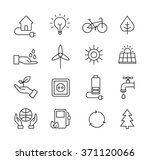 set of icons representing... | Shutterstock .eps vector #371120066