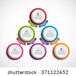 infographic design organization ... | Shutterstock .eps vector #371122652