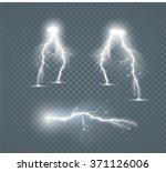 set of the isolated realistic... | Shutterstock .eps vector #371126006