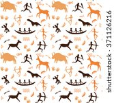 seamless pattern with cave...   Shutterstock .eps vector #371126216
