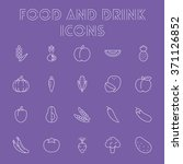 food and drink icon set. | Shutterstock .eps vector #371126852