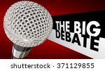 the big debate words next to a... | Shutterstock . vector #371129855