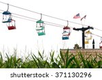 skylift ride at the state fair | Shutterstock . vector #371130296