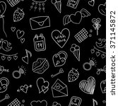 seamless valentine pattern with ... | Shutterstock .eps vector #371145872