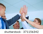 business people with their... | Shutterstock . vector #371156342
