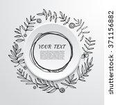 floral ornate frame for... | Shutterstock .eps vector #371156882