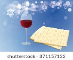 Traditional Matzoh And Wine.