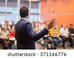 speaker at business conference... | Shutterstock . vector #371166776
