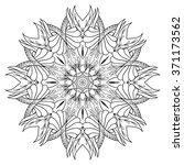mandala. ethnic decorative... | Shutterstock .eps vector #371173562