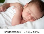 newborn baby in first week of... | Shutterstock . vector #371175542