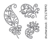 contour  black and white... | Shutterstock .eps vector #371178992