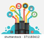 cloud storage. abstract flat... | Shutterstock .eps vector #371183612