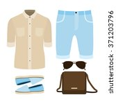 set of trendy men's clothes....