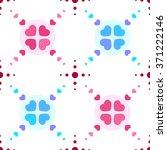 vector seamless hearts pattern... | Shutterstock .eps vector #371222146