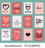 vector valentine's cards... | Shutterstock .eps vector #371228992