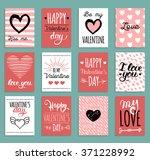 vector valentine's cards...   Shutterstock .eps vector #371228992