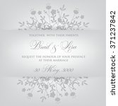 wedding invitation with flowers | Shutterstock .eps vector #371237842