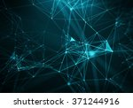 abstract blue geometrical... | Shutterstock . vector #371244916