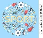 circular concept of sports... | Shutterstock .eps vector #371248768