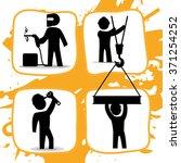 under construction design  | Shutterstock .eps vector #371254252
