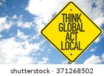 think global act local sign... | Shutterstock . vector #371268502